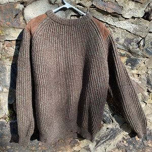 Polo by Ralph Lauren Wool/Suede Sweater